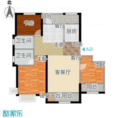 保利・春天里122.00㎡122平户型3室2厅2卫