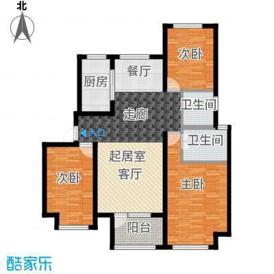 荣盛锦绣天地7#、8#、10#楼标准层B户型