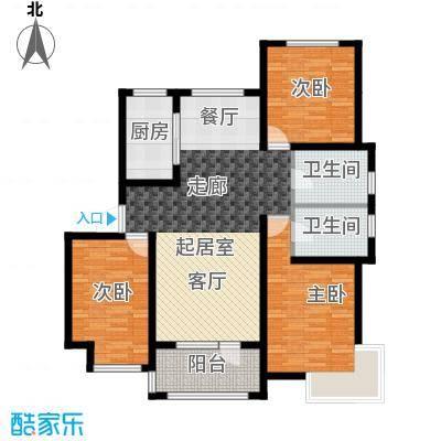 荣盛锦绣天地7#、8#、10#楼标准层A户型