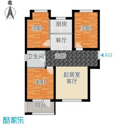 荣盛锦绣天地11#楼标准层E2户型