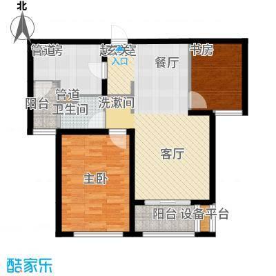 仁恒湖滨城B-2户型