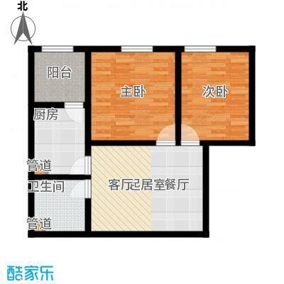 置嘉公寓68.00㎡2-面积6800m户型