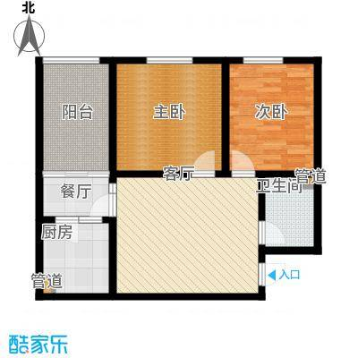 置嘉公寓76.00㎡b2面积7600m户型