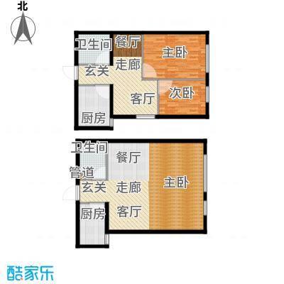 旭丰公寓65.63㎡C面积6563m户型