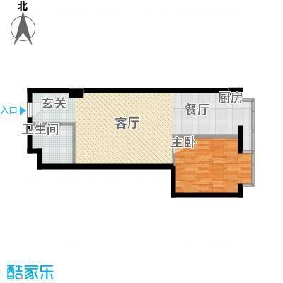 万隆国际中心76.41㎡c朝东面积7641m户型