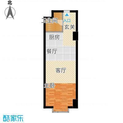 万隆国际中心66.66㎡e反66面积6666m户型