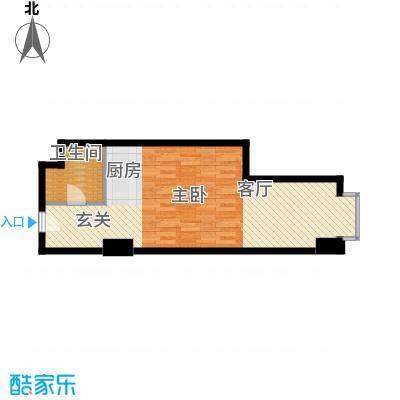 万隆国际中心59.91㎡d反朝东面积5991m户型