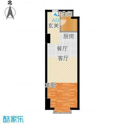 万隆国际中心66.66㎡e6666面积6666m户型