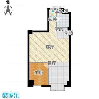万隆国际中心92.06㎡2号楼公寓H面积9206m户型