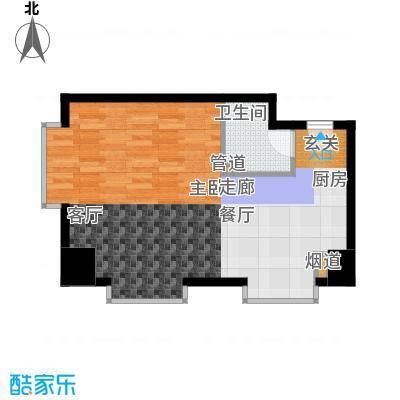 万隆国际中心64.11㎡2号楼公寓K面积6411m户型
