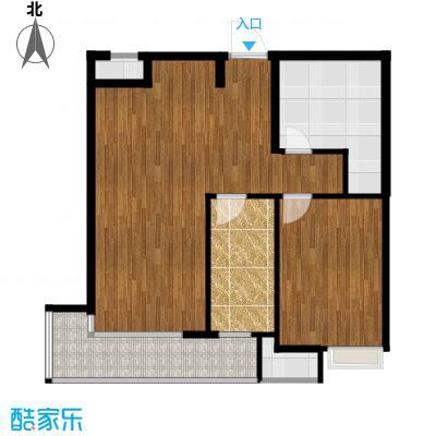 82平一室两厅精装小户型图