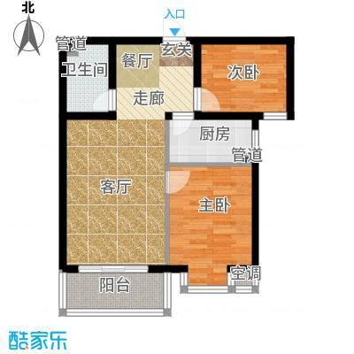 恒益翠芳庭74.57㎡107/108号楼B面积7457m户型