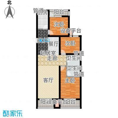 六合轩府145.00㎡2号楼标准层D户面积14500m户型