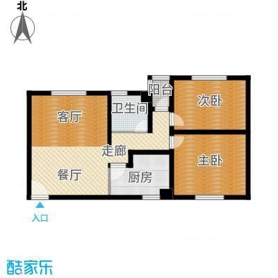 东港龙城89.63㎡E-a(反)面积8963m户型