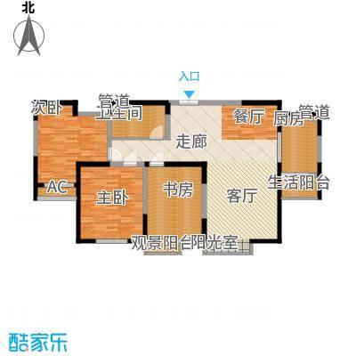 春江花月136.73㎡二期3B1面积13673m户型
