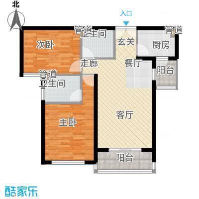 馨秀园106.00㎡三居室面积10600m户型