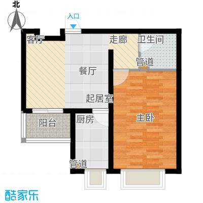 桥东区政府宿舍53.00㎡面积5300m户型