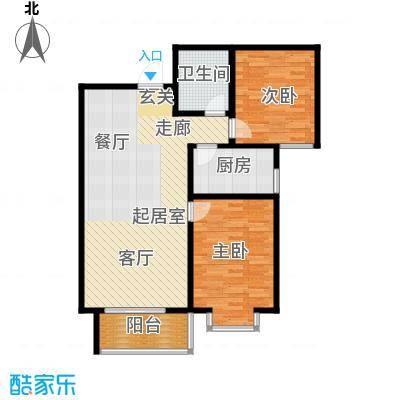 翰林雅筑91.58㎡6号楼C面积9158m户型