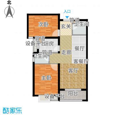 富源城93.96㎡1-A5(西)面积9396m户型