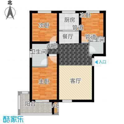 良城逸景116.81㎡A紫萱3-2-2面积11681m户型