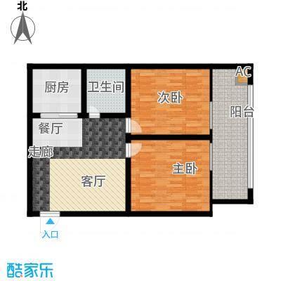 中铁大厦84.89㎡舒适温馨派(和面积8489m户型