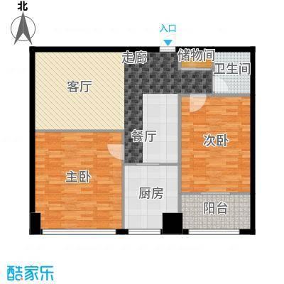 中铁大厦98.56㎡安逸小康派(都面积9856m户型
