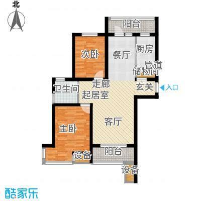 宏坤馨港家园99.00㎡O2面积9900m户型