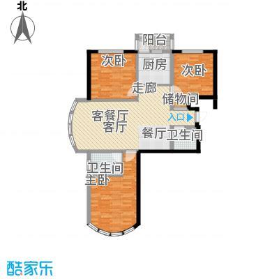 和谐家园124.60㎡3#5#G1246面积12465m户型