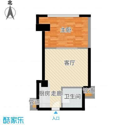 中宏汇景国际56.50㎡酒店式公寓面积5650m户型