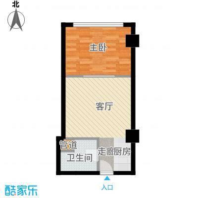 中宏汇景国际53.30㎡酒店式公寓面积5330m户型