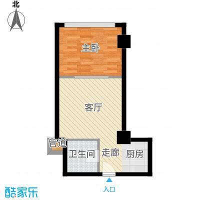 中宏汇景国际56.10㎡酒店式公寓面积5610m户型