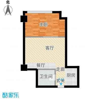 中宏汇景国际65.90㎡酒店式公寓面积6590m户型