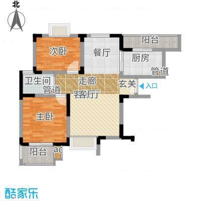 天山峰尚81.20㎡63/HC-1-22面积8120m户型