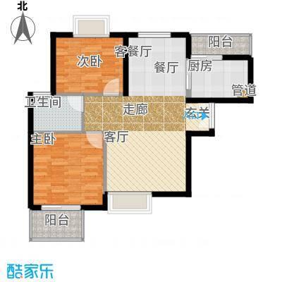天山峰尚90.65㎡60/HC-1面积9065m户型