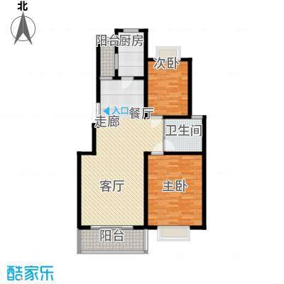 水晶郦城111.21㎡阳光二居室面积11121m户型