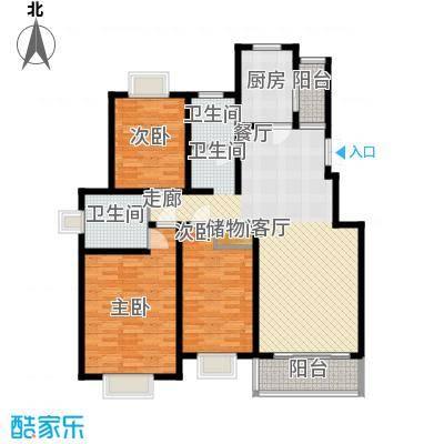 水晶郦城139.19㎡豪华三居室面积13919m户型