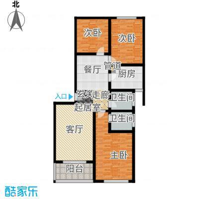 东里花苑93.00㎡面积9300m户型