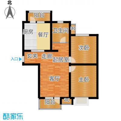 京港国际城96.70㎡高层标准层面积9670m户型