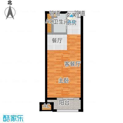 乐城半岛53.00㎡公寓12面积5300m户型