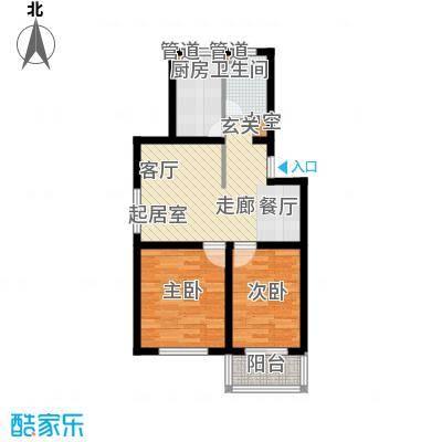 龙溪清雅园71.24㎡B面积7124m户型