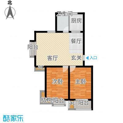 东华温馨家园97.39㎡G'面积9739m户型