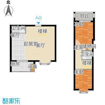 冀兴尊园108.37㎡13#A跃层2面积10837m户型