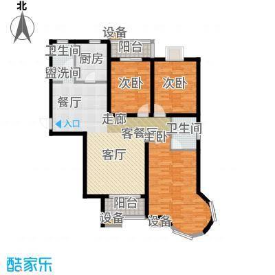 冀兴尊园136.25㎡二期20#A3面积13625m户型