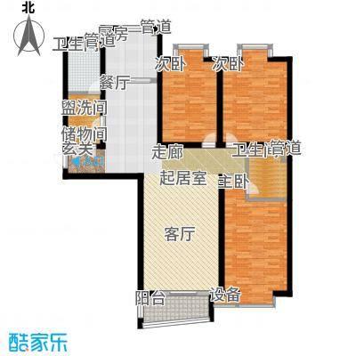 冀兴尊园142.34㎡7#楼二单元C3室面积14234m户型