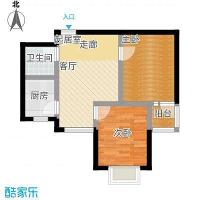 碧水秀城71.49㎡2户型
