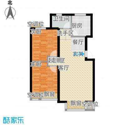 丰润帝景豪庭89.90㎡2号楼--A3户面积8990m户型