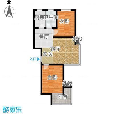 藏龙福地86.09㎡8#F面积8609m户型