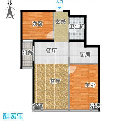 藏龙福地93.58㎡2#D面积9358m户型