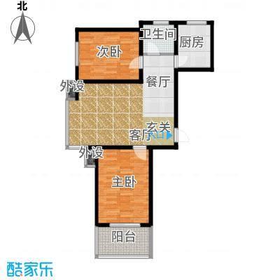 藏龙福地88.55㎡面积8855m户型