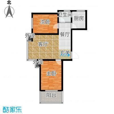 藏龙福地88.50㎡9号楼Y885面积8855m户型